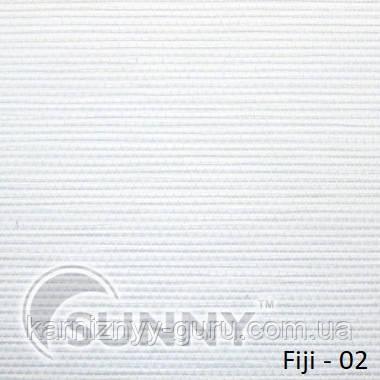 Рулонные шторы для окон в открытой системе Sunny, ткань Fiji