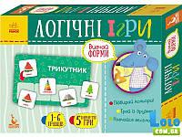 КЕНГУРУ Логічні ігри. 2+ Вивчай форми. 24 картки (Укр) (в ассортименте)