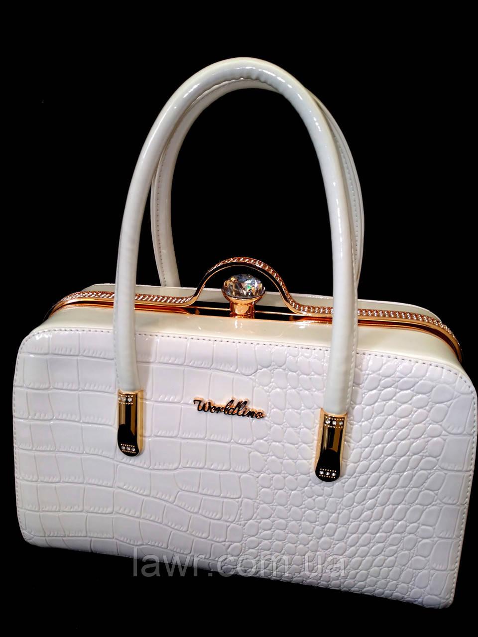 deb5c0018804 Стильная, лаковая женская сумка, саквояж, Willow, 000175 - Интернет-магазин