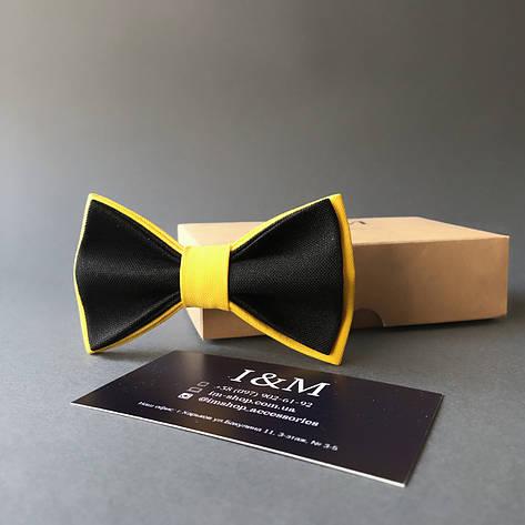 Галстук-бабочка I&M Craft детский черный с желтым (010567k), фото 2