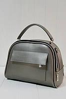 Жіноча сумочка саквояж-портфель в семи кольорах. Металік.