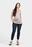 Базовая футболка для беременных и кормящих (латте), фото 1