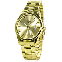 ✸Механические часы SWIDU SWI-021 Gold Waterproof 3 АТМ влагозащищенные мужские кварцевый механизм наручные