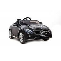 Электромобиль детский Mercedes-Benz S63 AMG черный