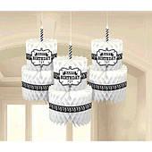 Подвески торт HB (черно-белые) 1501-4179