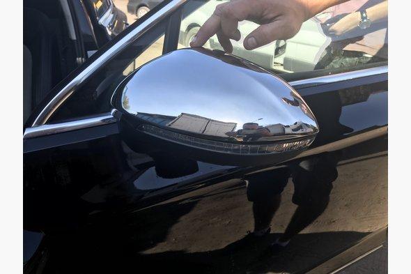 Накладки на зеркала (2 шт, нерж) Volkswagen Passat B8 2015↗ гг.