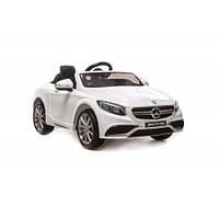 Электромобиль детский Mercedes-Benz S63 AMG белый