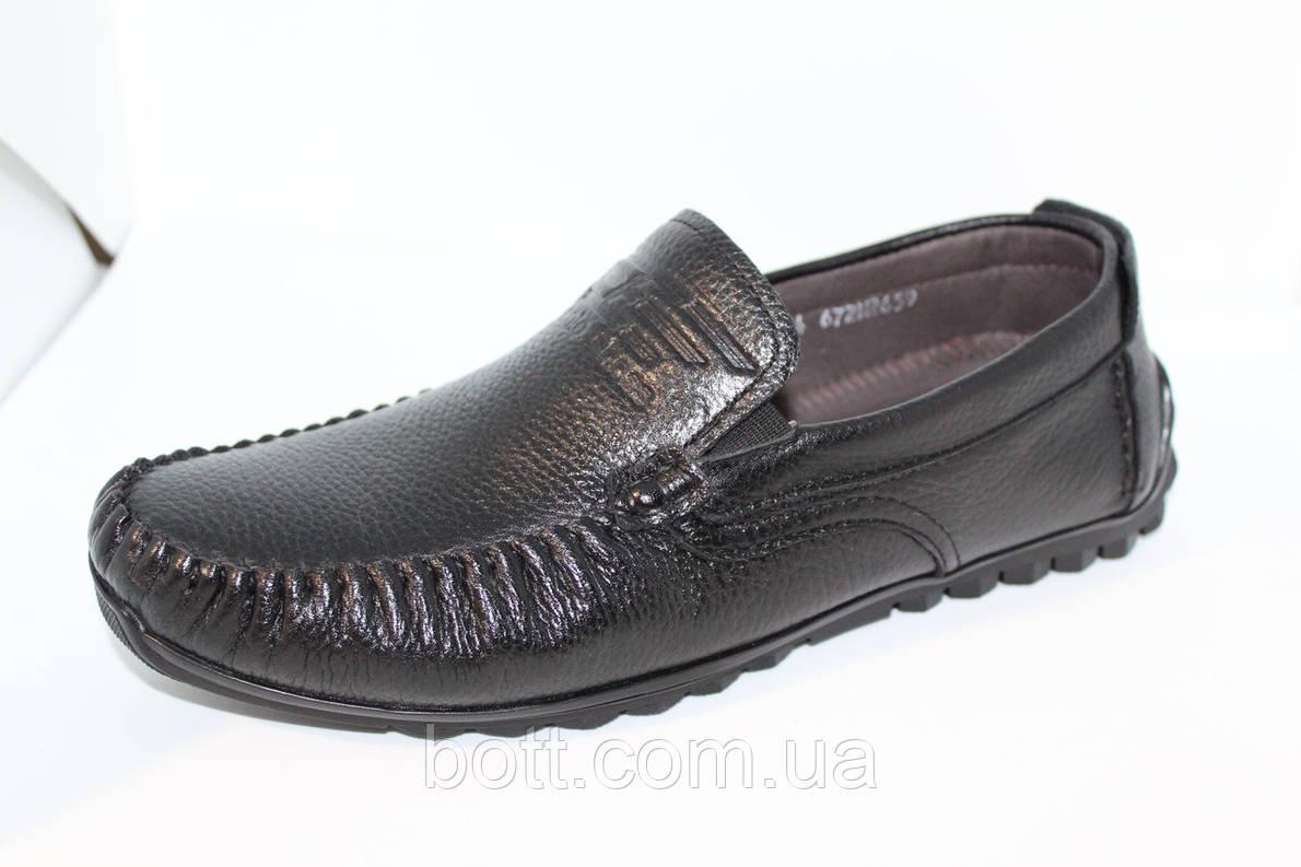 Мокасины  черные кожаные , фото 2