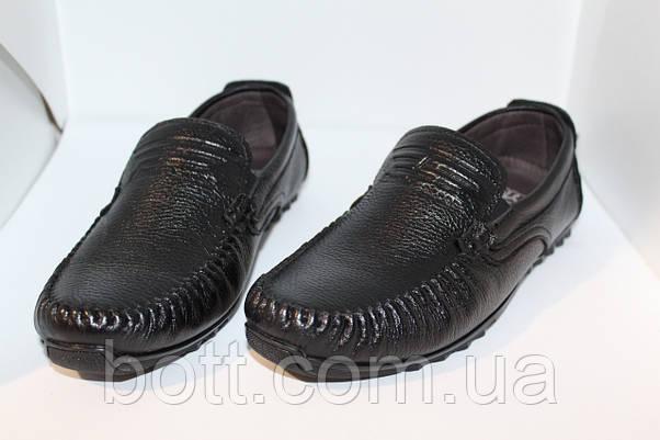 Мокасины  черные кожаные , фото 3