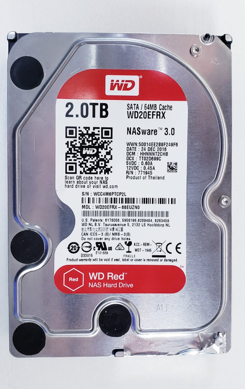 """Жесткий диск WD 2TB NASware 3.0 64МB 5400RPM WD20EZRX 3.5 SATA III """"Over-Stock"""" Б/У"""