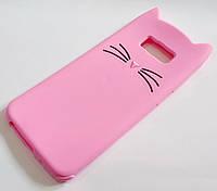 Чохол дитячий для Samsung Galaxy S8 Plus G955 силіконовий об'ємний іграшка вусики рожевий