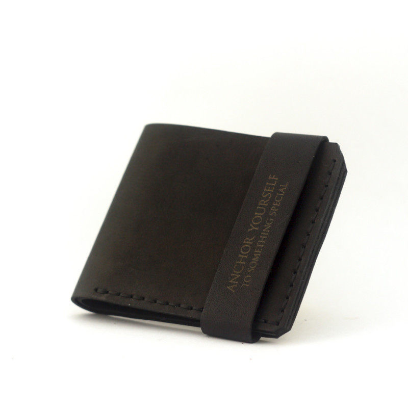 """Гаманець чоловічий шкіряний компактний """"Wallet One"""". Колір коричневий"""