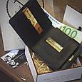 """Гаманець чоловічий шкіряний компактний """"Wallet One"""". Колір коричневий, фото 4"""
