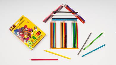 Цветные карандаши MARCO - Пегашка. В упаковке 36 цветов