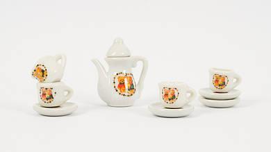 Посуда фарфоровая - Чайный сервиз на 4 персоны. 3 вида