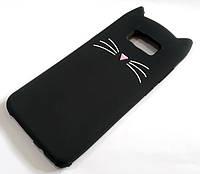 Чохол дитячий для Samsung Galaxy S8 Plus G955 силіконовий об'ємний іграшка вусики чорний