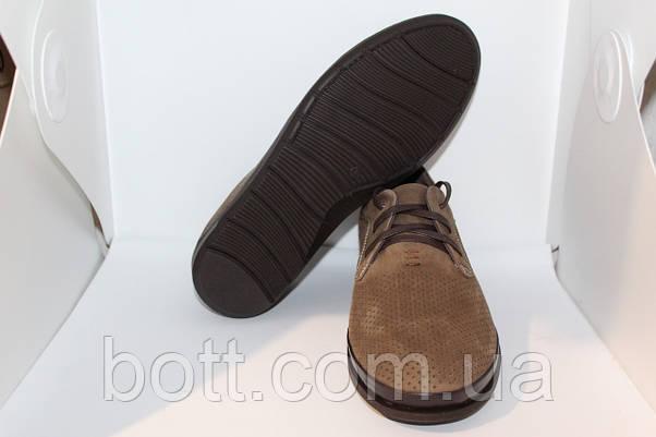 Мокасины коричневые перфорирование кожаные, фото 2