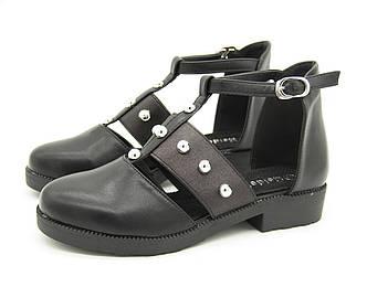 Туфли для девочки Цвет -Черный Размеры: 32,33,34,36