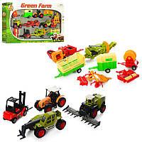 Набор машинок Green Farm 417: трактор 5шт + прицеп 7шт