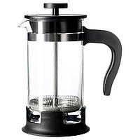 IKEA UPPHETTA (002.978.50) Кофе-пресс/заварочный чайник, стекло, нержавеющая сталь