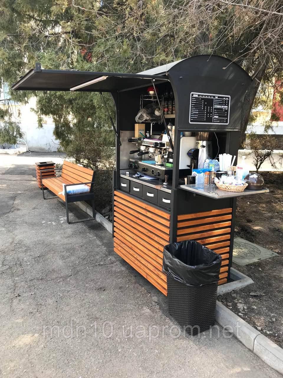 Передвижной прилавок, кофейня