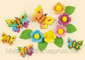 Набор кондитерского декора «Мотыльки и цветы»