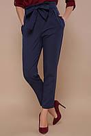 Темно-синие брюки с высокой посадкой, фото 1