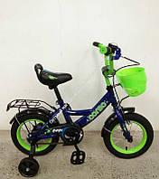 """Велосипед 12"""" дюймов 2-х колёсный G-12099 """"CORSO"""" ручной тормоз, звоночек, сидение с ручкой, доп. колеса, СОБРАННЫЙ НА 75% в коробке (ОПТОМ)"""