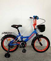 """Велосипед 16"""" дюймов 2-х колёсный G-16905 """"CORSO"""" ручной тормоз, звоночек, сидение с ручкой, доп. колеса, СОБРАННЫЙ НА 75% в коробке  (ОПТОМ)"""