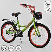 """Велосипед 20"""" дюймов 2-х колёсный G-20979 """"CORSO"""" ручной тормоз, звоночек, мягкое сидение, СОБРАННЫЙ НА 75%, в коробке  (ОПТОМ)"""