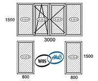 Балконная рама WHS