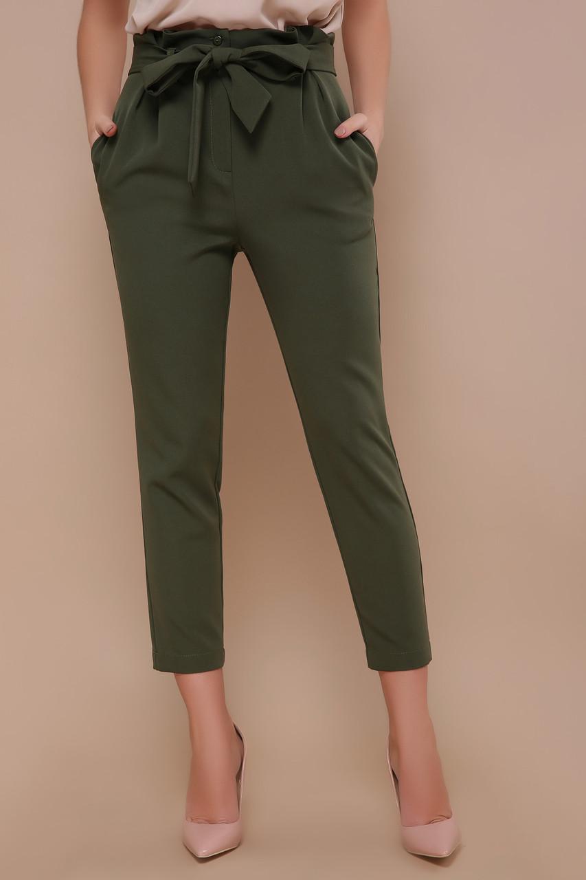 Стильные женские брюки с поясом