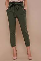 Стильные женские брюки с поясом, фото 1