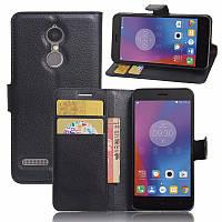 Чехол-книжка Litchie Wallet для Lenovo K6 Черный