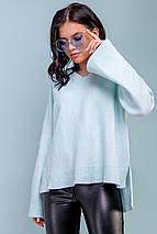 Женский голубой пуловер (3276 svt), фото 3