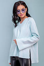 Женский голубой пуловер (3276 svt), фото 2