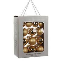 """Елочные шарики 26 шт., """"House of Seasons"""" комплект, цвет золотой"""