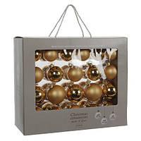 """Елочные шарики 42 шт., """"House of Seasons"""" комплект, цвет золотой"""