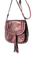 """Женская кожаная сумка """"Burgundy"""" бордовая"""