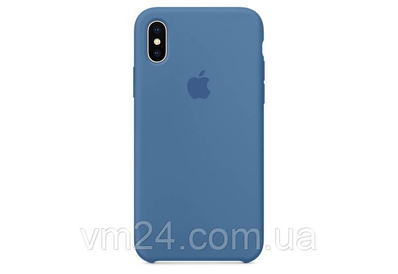 Силиконовый чехол Apple Silicone Case for iPhone X royal blue