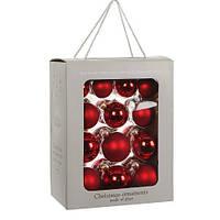 """Елочные шарики 26 шт., """"House of Seasons"""" комплект, цвет красный"""