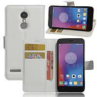 Чехол-книжка Litchie Wallet для Lenovo K6 Белый