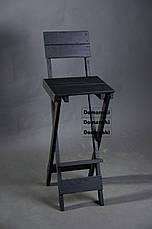 Стул для кофейни. Стул для визажиста складной; Барный складной высокий стул., фото 3