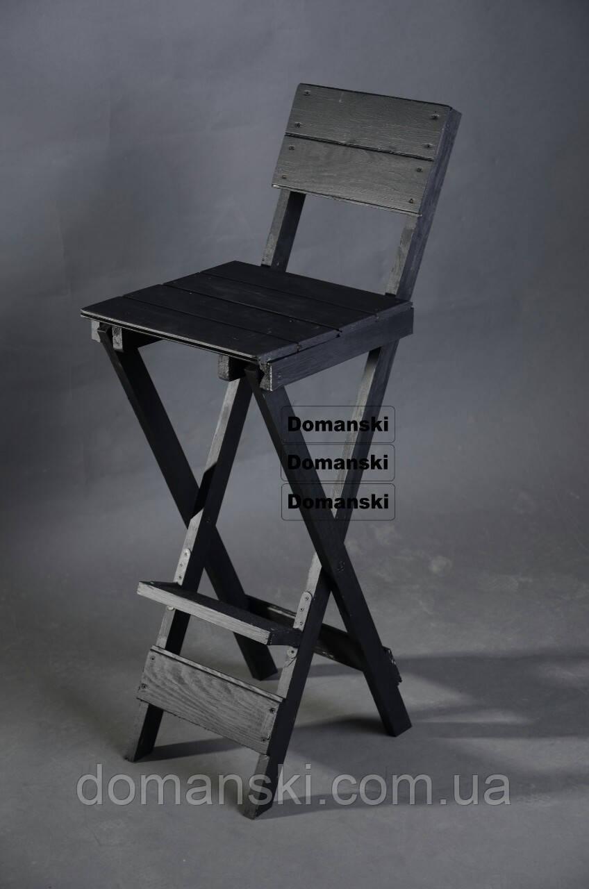 Стул для кофейни. Стул для визажиста складной; Барный складной высокий стул.