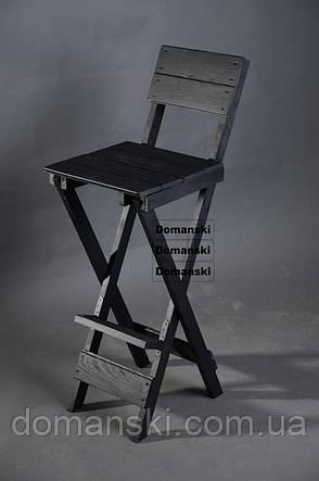 Стул для кофейни. Стул для визажиста складной; Барный складной высокий стул., фото 2