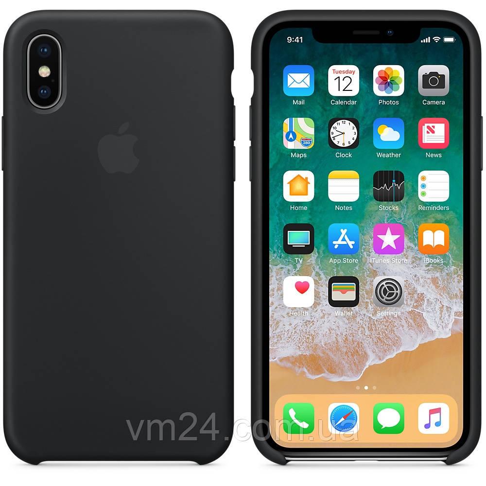 Силиконовый чехол Apple Silicone Case for iPhone X Black чёрный