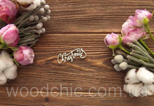 Чипборд Надпись Christmas