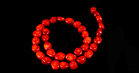 Заготівля з червоного коралу,шматочки 0104, фото 1
