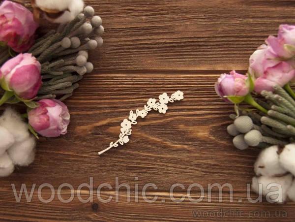 Чипборд Ветка с цветочками