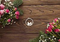 Чипборд  Новогодний шар домик и елочка